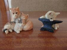 More details for country artists and sherratt & simpson cat kitten figurines animal ornaments