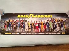 NASCAR DRIVERS 2015 GOODYEAR CLASS POSTER 11X34 ROAD WARRIORS