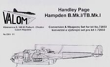 Valom DSV01 1/72 Resin Handley-Page Hampden Mk.I/T Mk.I conversion set
