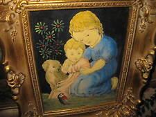 HUBER-SULZEMOOS Hans, *1873 Kleine Kinder beim spielen