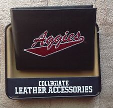 NEW MEXICO STATE AGGIES  EMBROIDERED LEATHER WALLET BILLFOLD NCAA NEW