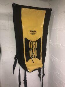lewis & clark waterproof large hiking backpack black & yellow