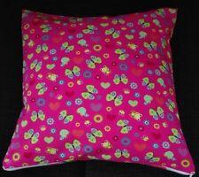 Kissenhülle, Kissenbezug 40x40 cm, Frosch/Schmetterling, Kinderkissen,Handarbeit