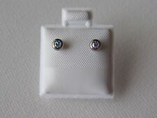 New Hypoallergenic Silver AB Stone Stud Ball Earring Set