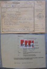"""DDR MEF Telegramm MiNr 3013 (aus Bl 83) """"SED Parteitag"""" Karl-Marx-Stadt 20.9.89"""