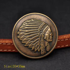 """10PCS DIY WESTERN ANTIQUE INDIAN HEAD REPRODUCTION COIN CONCHO 1-3/8"""" screw back"""