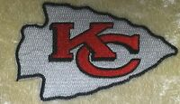 "Kansas City Chiefs Big 3.5"" Iron On Embroidered Patch ~US Seller~FREE Ship!"