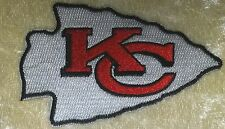 "Kansas City Chiefs NFL Big 3.5"" Iron On Embroidered Patch ~USA Seller~FREE Ship!"
