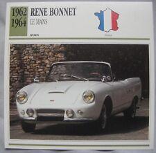 Rene Bonnet Le Mans Collectors Classic Cars Card