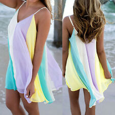 Womens Summer Short Plus Sundress Ladies Beach Party Evening Cocktail Sun Dress