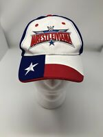 Wrestle Mania 2016 Texas Edition Red White And Blue Baseball Cap Hat Adjustable