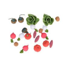 1:12 Dollhouse Miniature Handmade Toy Vegetables Doll Kitchen Decor 20Pcs &