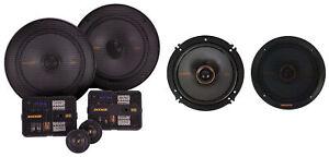 "Kicker 47KSS6504 6.5"" Car Audio Component Speakers+6.5"" Coaxial Speakers"