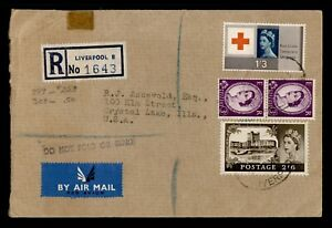 DR WHO 1964 GB LIVERPOOL REGISTERED AIRMAIL TO USA C236532