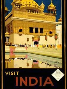 TRAVEL TOURISM INDIA HARMANDIR SAHIB SIKH TEMPLE NEW ART PRINT POSTER CC2934