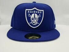 NEW ERA 59FIFTY FITTED HAT.  NFL.  OAKLAND RAIDERS. ROYAL BLUE.