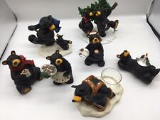 Big Sky Carvers Bearfoots By Jeff Fleming Lot Of 7 Christmas Cookie Cocoa Santa