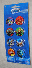 Skylanders Buttons Set 8 Characters Activision 2013 Christmas Stocking Stuffer