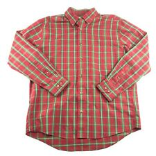 Cabela's Mens Red Green Plaid Collared Outfitter Series Button Front Shirt L
