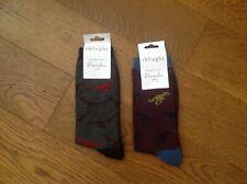 Men's Socks - Thought - Dino Bamboo Socks (Dinosaur print) - 2 Pairs