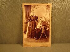 Victorian Antique Cabinet Card Photo of Couple.....Wedding ??????