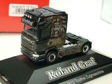 Herpa Scania R13 TL ROLAND GRAF/ Black Magic SoloZgm. - 110730 - 1/87