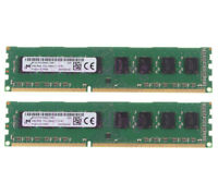 For Micron 8GB 2X 4GB 2Rx8 PC3-12800U DDR3 1600Mhz Desktop Memory RAM DIMM Intel