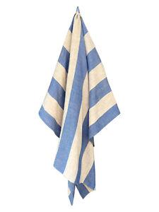 Natural Blue Turkish Linen Bath and Beach Towel - GET 20% OFF