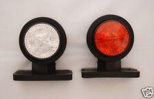 DOS Función LED Lateral Luces de marcaje 24v para VOLVO MAN SCANIA DAF IVECO