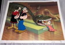 Popeye Cel Don't Feed The Dinosaur Special Proof Rare Edition Cell King Features