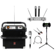 "Rockville 8"" Portable Karaoke Machine/System 4 ipad/iphone/Android/Laptop/Tablet"