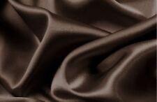 Best Full Size Bed Sheet Set Royal Opulence Brown Satin Silk Soft Bedding 4Pcs