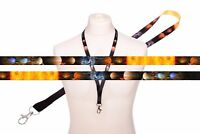 Galaxy Planets Sun Cosmos SATIN LANYARD NECK STRAP for Mobile Ipod MP3 ID Badge