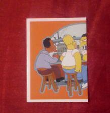 THE SIMPSONS 2001 PANINI STICKER # 91 LEFT HALF MOE'S TAVERN 20th C FOX ITALY