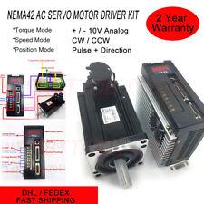 1.8KW 6NM CNC Servo Motor NEMA42 AC Servo Driver 3000RPM Step/Dir Control Kits