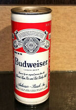 1973 Bottom Open 16 Ounce Oz Crimped Steel Budweiser Beer Can 9 City St Louis Mo