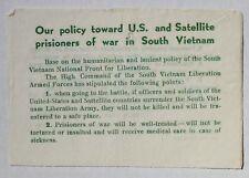 Wartime Viet Cong (VC) Leaflet, Chieu Hoi Psychological Propaganda (209)