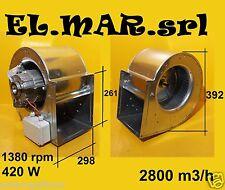 Ventilatore Aspiratore Centrifugo DD 9/9 Motore Monofase 420 W cappa industriale