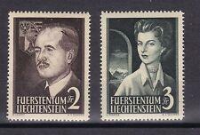Liechtenstein 1955 postfrisch MiNr. 332-333  Freimarken Fürstenpaar  /(2)