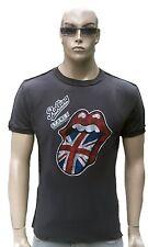 AMPLIFIED ROLLING STONES Vintage UK Union Jack Flagge Rock Star ViP T-Shirt M