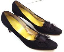 Black Size 11 AAA Shoes High Heels Lace Satin  Formal Shoes AAA or AAAA