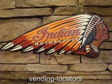 Indian Motorcycle Metal Sign Chief Harley Davidson Scout Vintage Style American