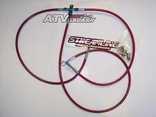 "Streamline Front Brake Lines +3"" Red Yamaha YFZ450 YFZ 450 04 05 06 07 08 12 13"