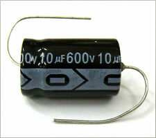 QTY 7 New MIEC 10UF 600V 105C Axial Electrolytic Capacitors