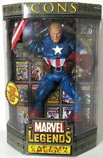 """New Sealed ToyBiz Marvel Legends Icons 12"""" Captain America Unmasked Variant 2006"""