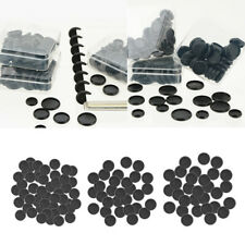 110Pcs  Black ABS Plastic Binding Rings Button Notebook Supplies 18mm 24mm 28mm