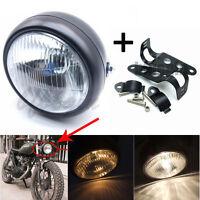 Moto LED  Lampe phare Beam Hi/Lo Feux avant + Supports Feu Phare Pour Harley