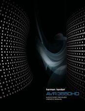 Harman Kardon AVR-3550-HD AV Receiver Owners Manual
