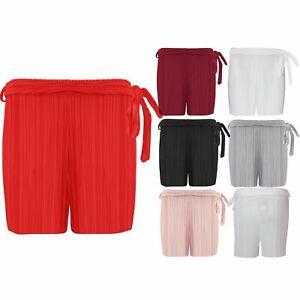 Womens Ribbed Holiday High Waisted Ladies Summer Beach Hot Pants Bottom Shorts