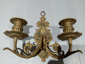 ANTIQUE WALL SCONCE CANDLE HOLDER LIGHT